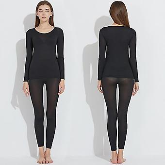 Women Warm Long Johns Winter Underwear Elastic Thermal Inner Warm Suit