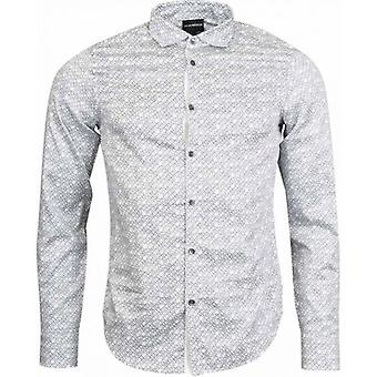 Armani All Over Logo Shirt