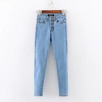Women Single-brested Slimming Denim Jeans