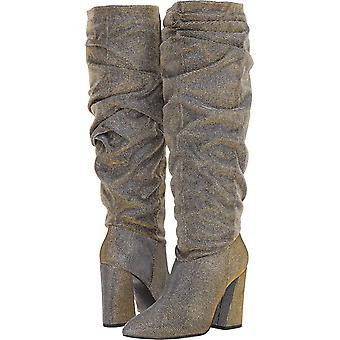 Kenneth Cole New York Womens Genevive Fabric Pointed Toe Over Knee Fashion Boots