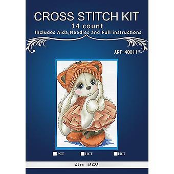 Lovers On Seaside, contada impresa en lienzo 14ct cross stitch embroidery kit