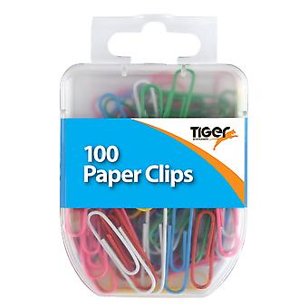 Tiger Stationery Paper Clips (Pack of 100)