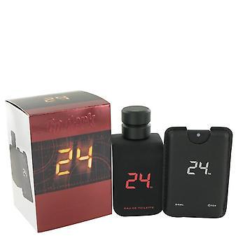 24 Go Dark The Fragrance Eau De Toilette Spray + .8 oz Mini Pocket Spray By Scentstory 3.4 oz Eau De Toilette Spray + .8 oz Mini Pocket Spray