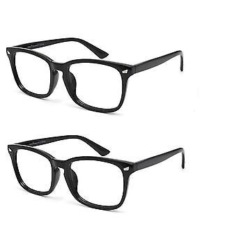 Kék fény blokkoló számítógép szemüveg 2 csomag csökkenti a szem szemfáradtság