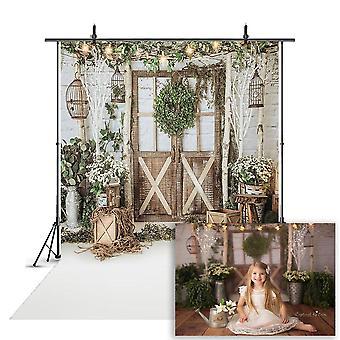 写真の雪片のための肖像画の背景、写真のクリスマスツリーのために