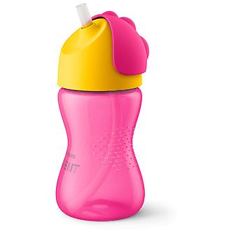Avent Tumbler with Pink Straw 200 ml
