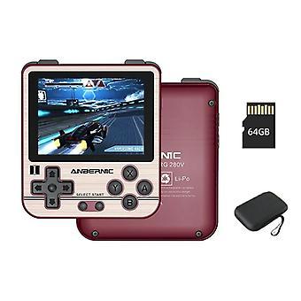 Uusi Rg280v Anbernic Retro Player kannettava tasku kädessä pidettävä pelikonsoli