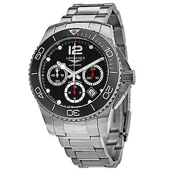 Longines HydroConquest Chronograph Automatic Black Dial Men's Watch L3.883.4.56.6