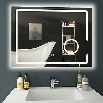 600x800mm Wall Mounted Lighted Bathroom Vanity Mirror Touch 3x Magnified Anti-fog