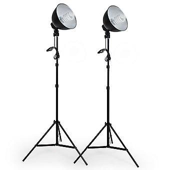 tectake 2 fotolys til digital og analog fotografering med lampe