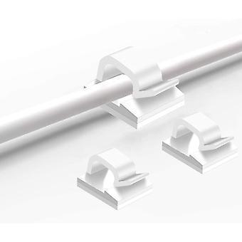 Support de câble adhésif 50-pack Blanc