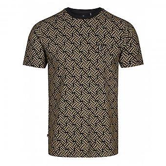 Luke 1977 Luke Richards All-Over Logotipo Print T-Shirt Preto