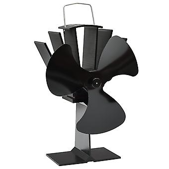 vidaXL Ventilateur de cheminée 3 feuilles noir