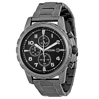 Fossil Men's Dean Black Dial Watch - FS4721IE