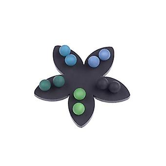5 pairs of 8mm Polaris earrings, in harmonious colors on a black flower by Adi-Modenschmuck in Berlin. and Hypoallergenic Steel, Ref. 4251188617252