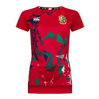 Canterbury British & Irish Lions Rugby Superlight Grafisch T-shirt | Vrouwen | Tango Rood