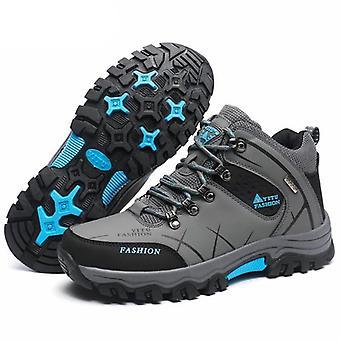 Outdoor Non-slip Hiking Leather Waterproof Men Sneakers
