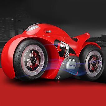 Vehículo Juguete RC Motocicleta Drift Juguetes Motor Eléctrico Música &Luz LED Eléctrico Niños Regalo(Rojo)