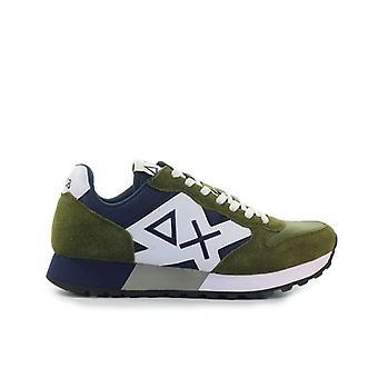Sun68 Jaki Bicolor Military Green Navy Blue Sneaker