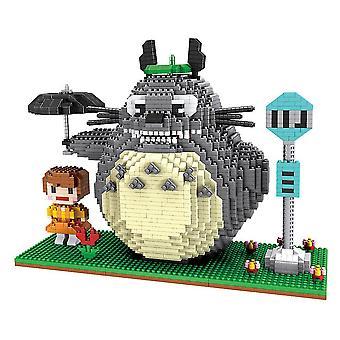 New My Neighbourtotoro Building Blocks Puzzle Micro 3d Figures Educational Brick Toys ES7512