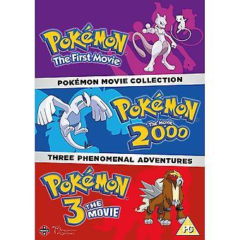 Pokemon Movie Collection DVD (Pokemon The First Movie, Pokemon The Movie 2000, Pokemon 3 The Movie)
