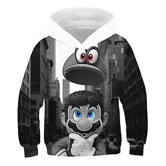 3d Print, Super Mario Cartoon Hooded Sweatshirt For Set-6