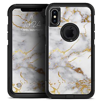 Marble & Digital Gold Foil V2 - Skin Kit For The Iphone Otterbox Cases