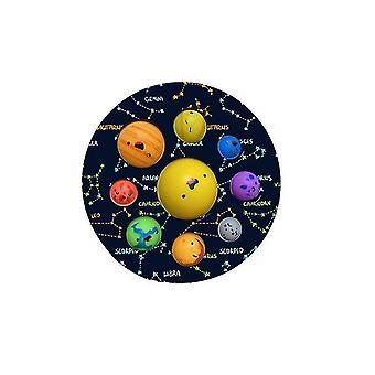 Stiskněte hračky Planet, dětské vzdělávací unzip hračky (Color1)