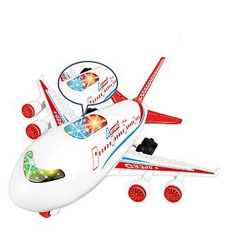 Model samolotu pasażerskiego dla dzieci z lekkim i dźwiękowym (czerwony)