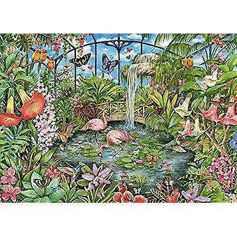 Falcon Deluxe tropiskt vinterträdgård pussel (1000 stycken)