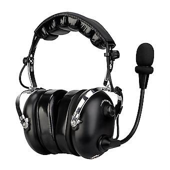 Fone de ouvido retevis preto EH070K 2 Pin Binaural Redução de Ruído para Kenwood