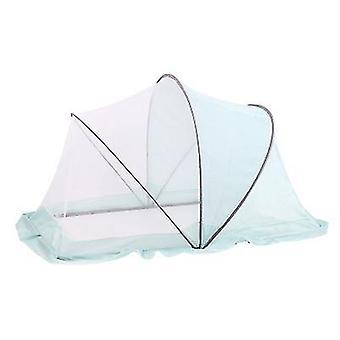 Portable Folding Crib Mosquito Net Portable Foldable Crib(Blue)