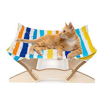 Lemmikkieläinten puinen kissa riippumatto