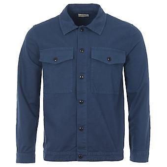 Nudie Jeans Co Colin Organic Cotton Canvas Overshirt - Indigo Blue