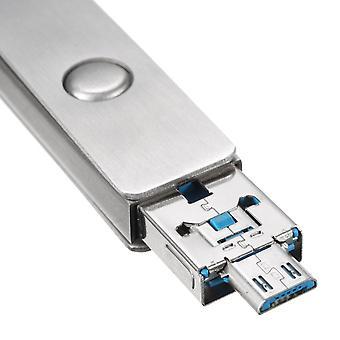 Meco 8/16/32/64GB 2 in einem Mirco USB2.0 OTG Flash-Laufwerk U Disk mit Schlüsselanhänger 16GB