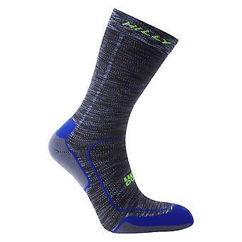 Hilly Lite Comfort Crew Socks - Cobalt Blue/Charcoal