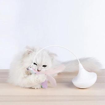 الحيوانات الأليفة التفاعلية لعبة القط عصا الريش الريش ندف القط القط لعبة الريش التلقائي