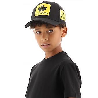 DSQUARED2 Kids Musta Logo Hattu