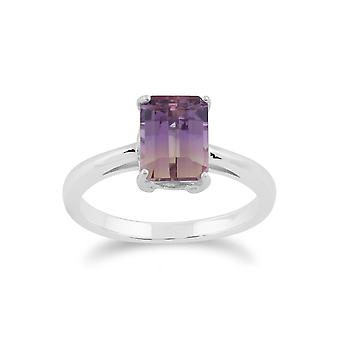Classic Baguette Ametrine Claw Set Ring in 925 Sterling Silver 270R052802925