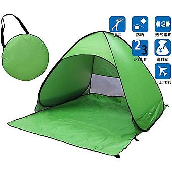 Portable Automatic Pop Up Beach Canopy Sun UV Shade Shelter Outdoor Camping Tent Outdoor (green)