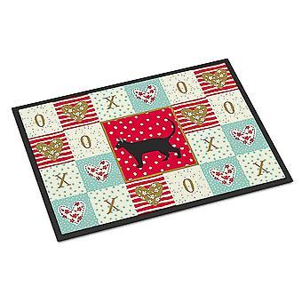 Door mats carolines treasures ck5671mat pantherette cat love indoor or outdoor mat 18x27