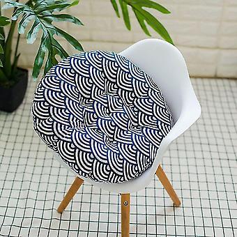 Cuscino da giardino esterno patio sedia seduta morbido cotone riempito cuscino (cuscino) (onde)