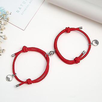 Állítható mágneses attrakció karkötő pároknak és szerelmeseknek(Piros)