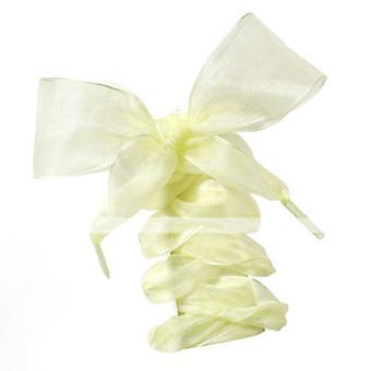 Fashion Shoestrings, Flat Silk Satin Ribbon Shoe Laces Bow
