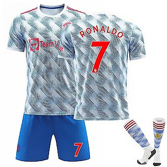 Cristiano Ronaldo 7 Cr7 Jersey 20212022 Saison Manchester Soccer Tshirts Jersey Set For Kids Youths