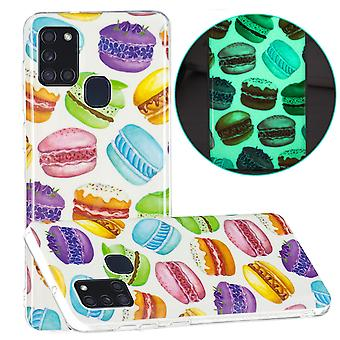 Case For Samsung Galaxy A21s Fluorescent Luminous Night Glow Soft Rubber Bumper Handytasche Coque Etui - Hamburger