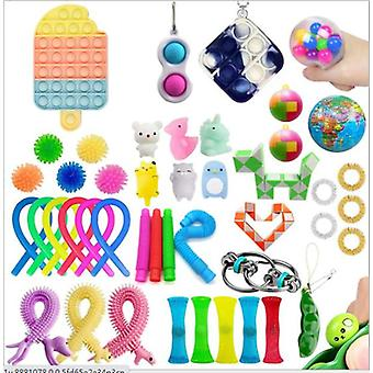 Sensory Decompression Toy Set Puzzle Diy Combination Toys -29