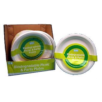 4pc Biodegradable Picnic y cena fiesta platos 23cm desechables compostables