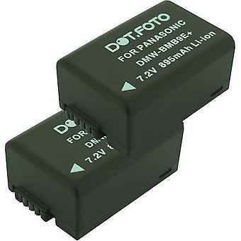 2 x batteria di ricambio di Dot.Foto Panasonic DMW-BMB9, DMW-BMB9E, DMW-BMB9PP - 7.4 v / 895mAh