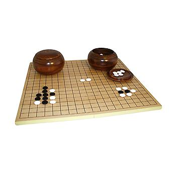 8mm Glass Stone Go Set W/ Slotted Board and Wood Bowls